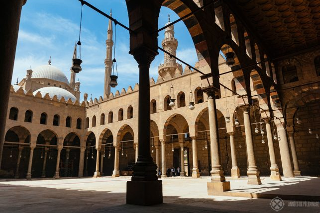 Al-Nasis Muhammad Mosque inside the cairo citadel egypt