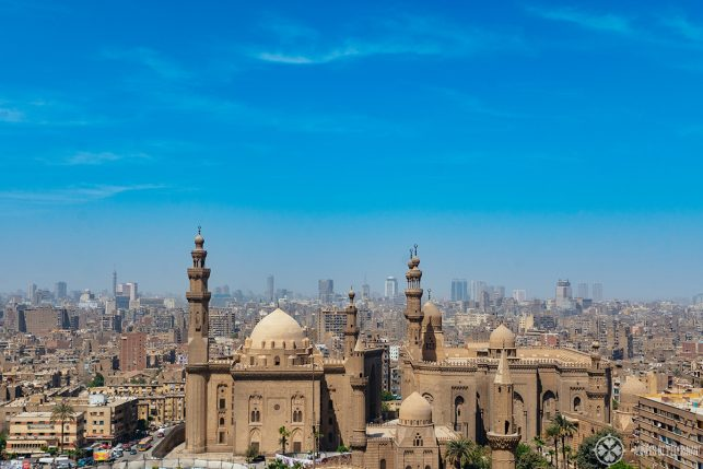 Mosque-Madrassa of Sultan Hassan as seen from the Citadel of Cairo, Egypt