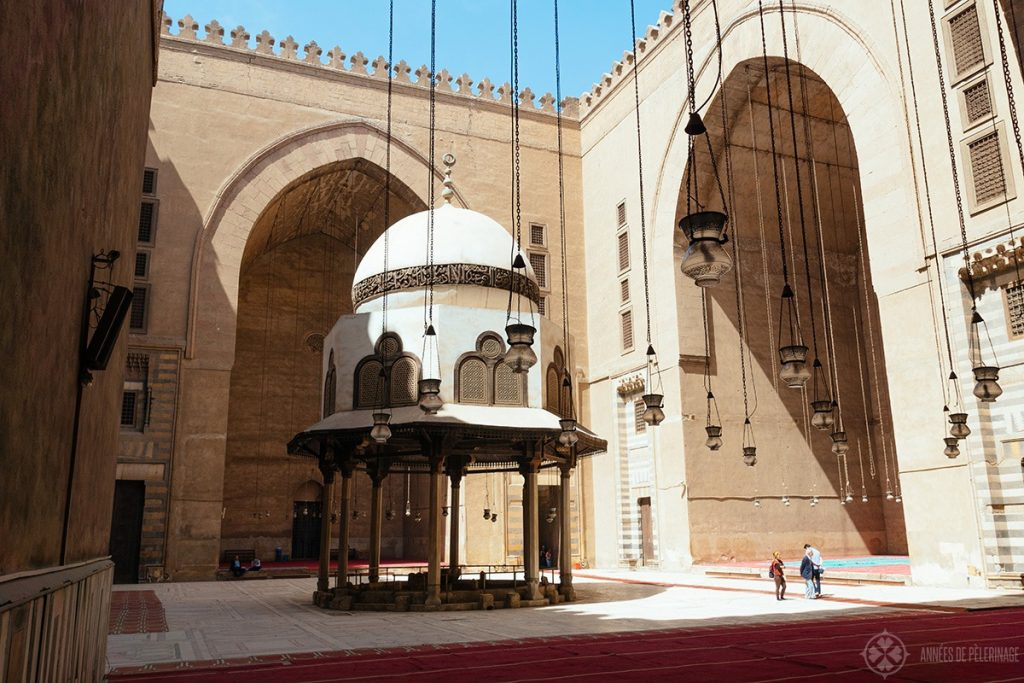 Inside the Mosque-Madrassa of Sultan Hassan ancient well - one of the best things to do in Cairo
