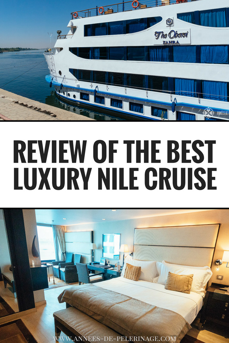 A review of the Oberoi Zahra luxury Nile cruise in Egypt. Authentic pictures of the luxury cabins and a detailed look at the service, the food and the itinerary of the Oberoi Zahra. Also covers Oberoi Zahra vs Philae as the sister ship is very similar. Click for more information. #travel #egypt #luxury #cruise #oberoi