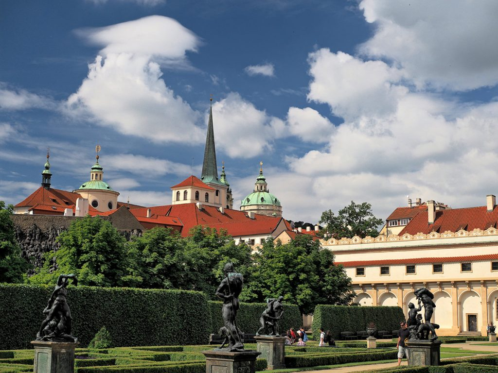 Baroque gardens of the Wallenstein Palace in Malna Strata in Prague