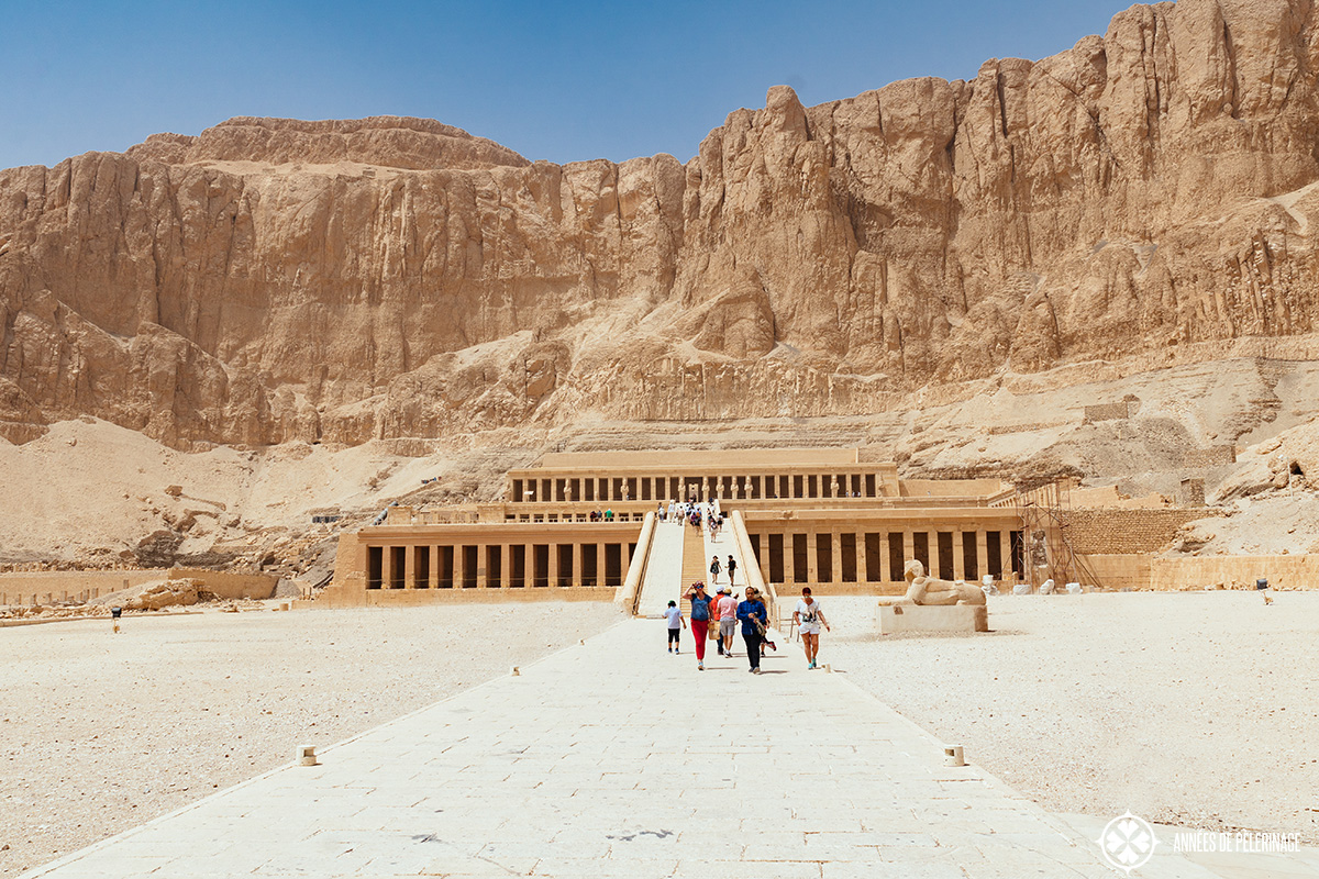 Front view of the hatshepsut temple near Luxor, Egypt