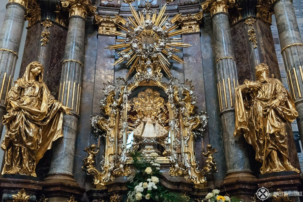 The gilded Infant of Prague