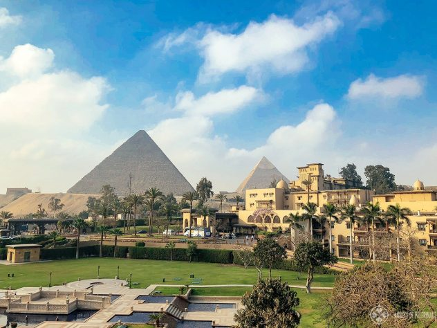 Marriott Mena House hotel near the Pyramids
