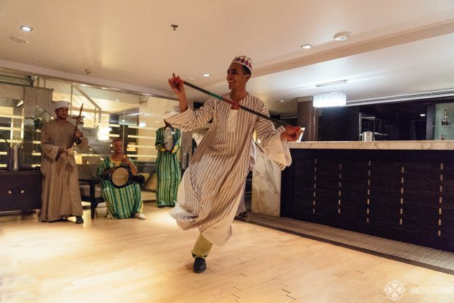 The nubian night onboard the Oberoi Zahra luxury Nile cruise ship in Egypt