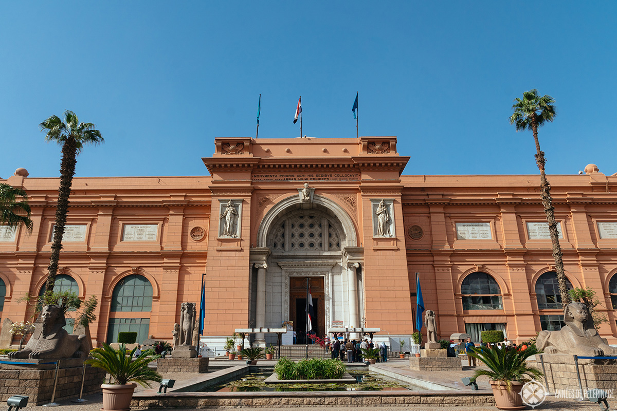 Front view of the Old Egyptian Museum, Cairo