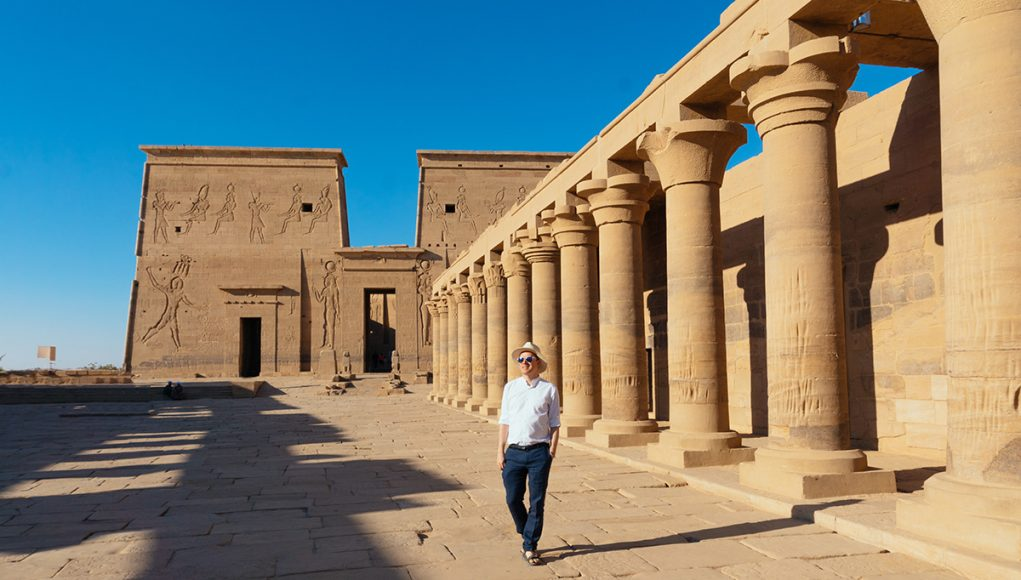 The ultimate Egypt travel guide - me on Philae temple in Aswan