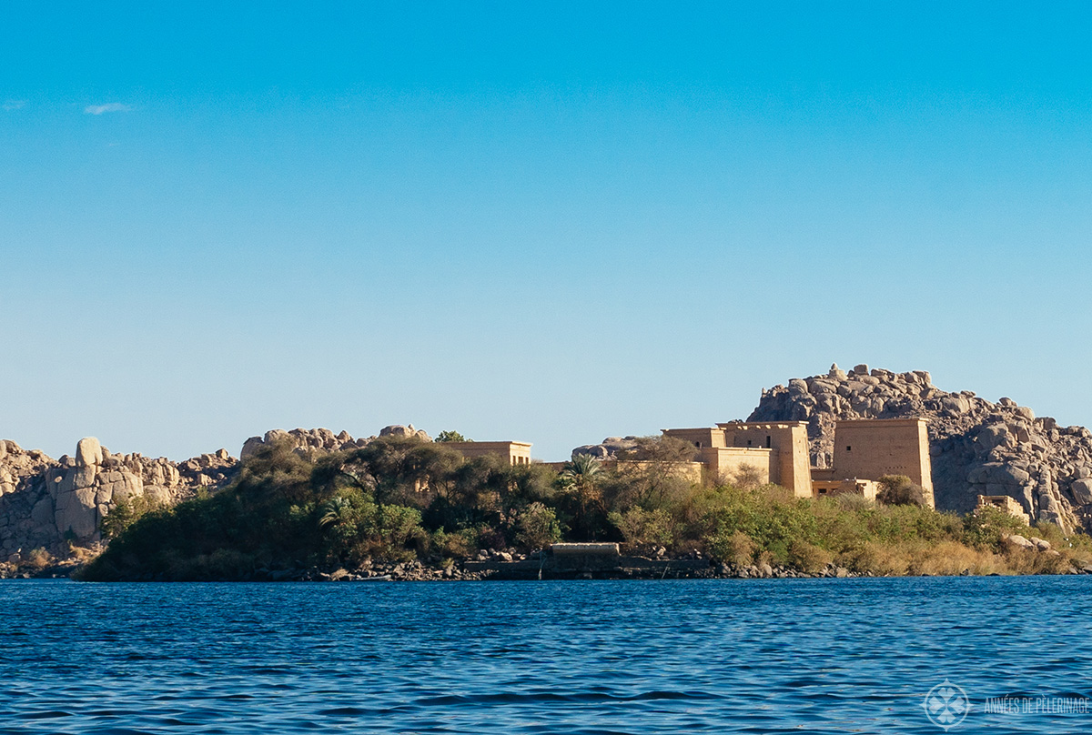 Philae temple on its island near Aswan, Egypt