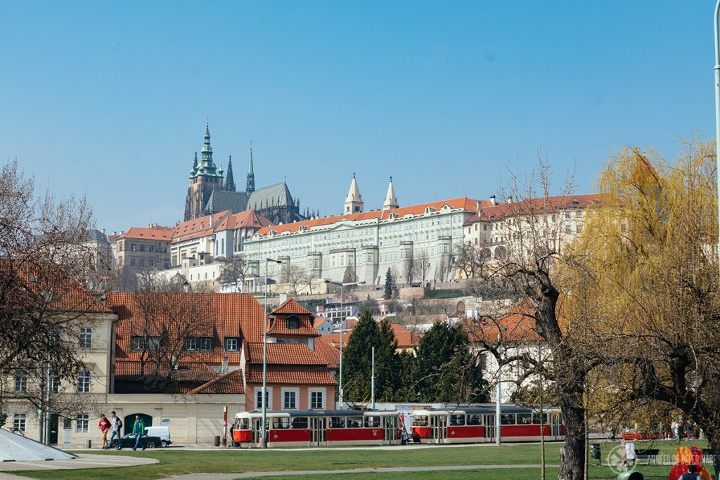 Prague Castle as seen from Mala Strana