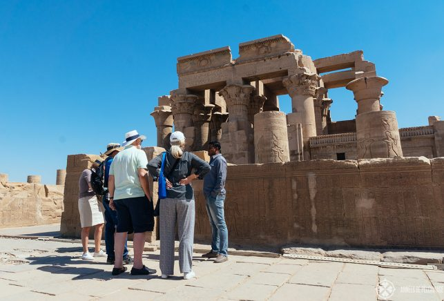 small group on one of the many excursions from the Oberoi Zahra luxury Nile cruise ship in Egypt