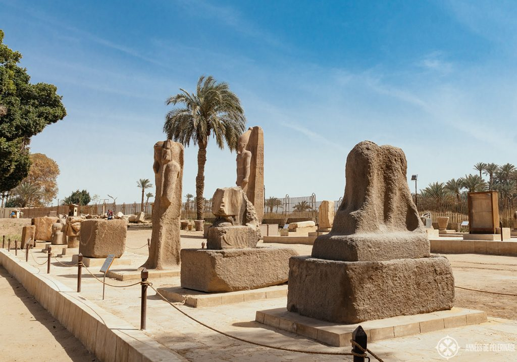 The remains of Memphis, once capital of the old kingdom in Egypt and only a small day trip away from Cairo