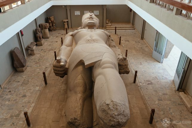 Collosal of Ramses II in the open air museum in Memphis, Egypt