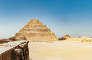 the step pyramid of Djoser in Saqqara complex near Cairo, Egypt