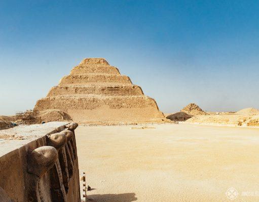 the step pyramid of Djoser in Saqqara complex near Cairo, Egypt