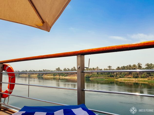 View from the top deck of the Oberoi Zahra