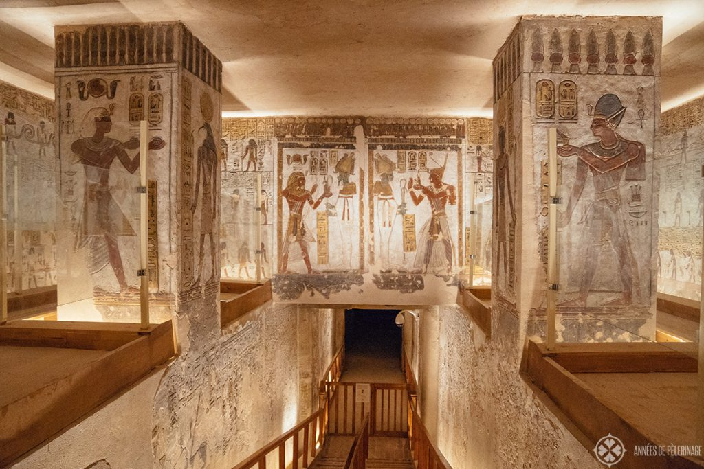 inside a tomb in the valley of kings, luxor westbank