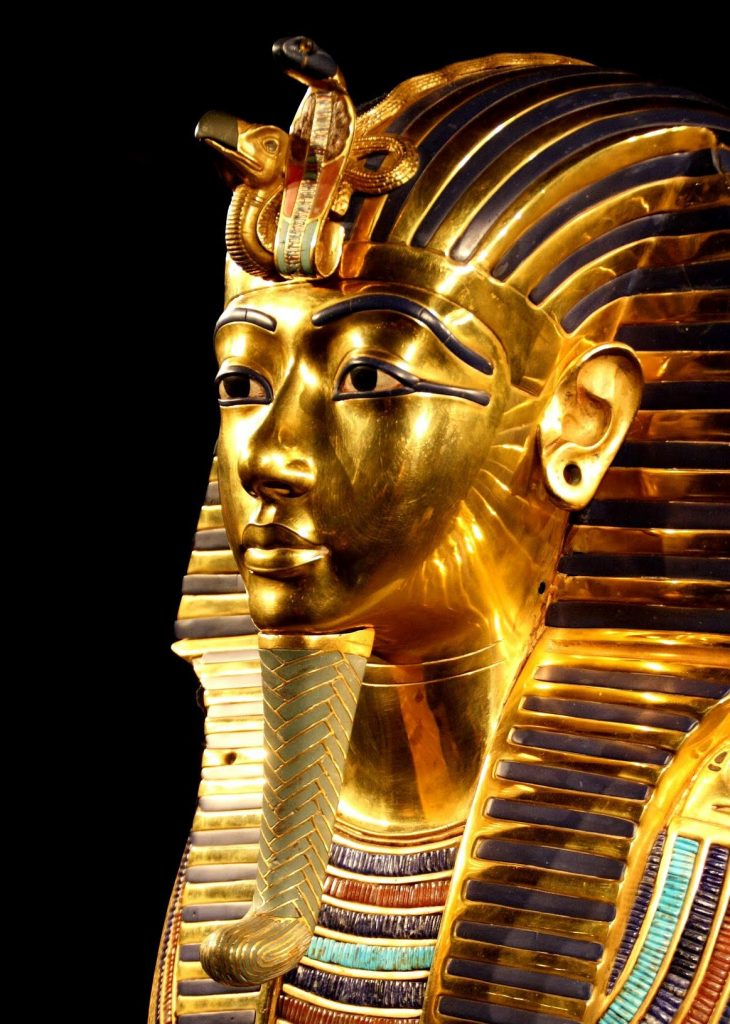 Tutankhamun's golden burial mask - one of the must-sees in Cairo, Egypt
