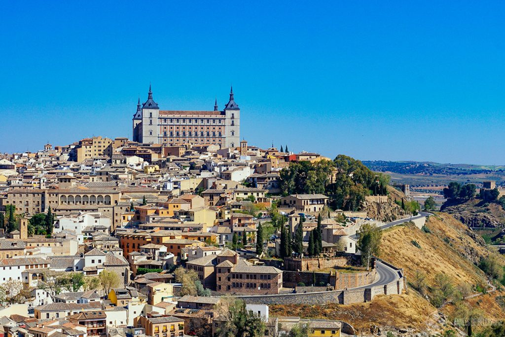 The Alcázar of Toledo on the highest hill of Toledo