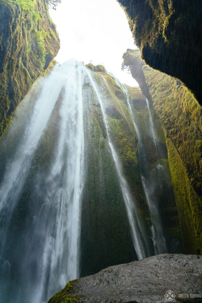 Gljúfrabúi waterfall near vik iceland