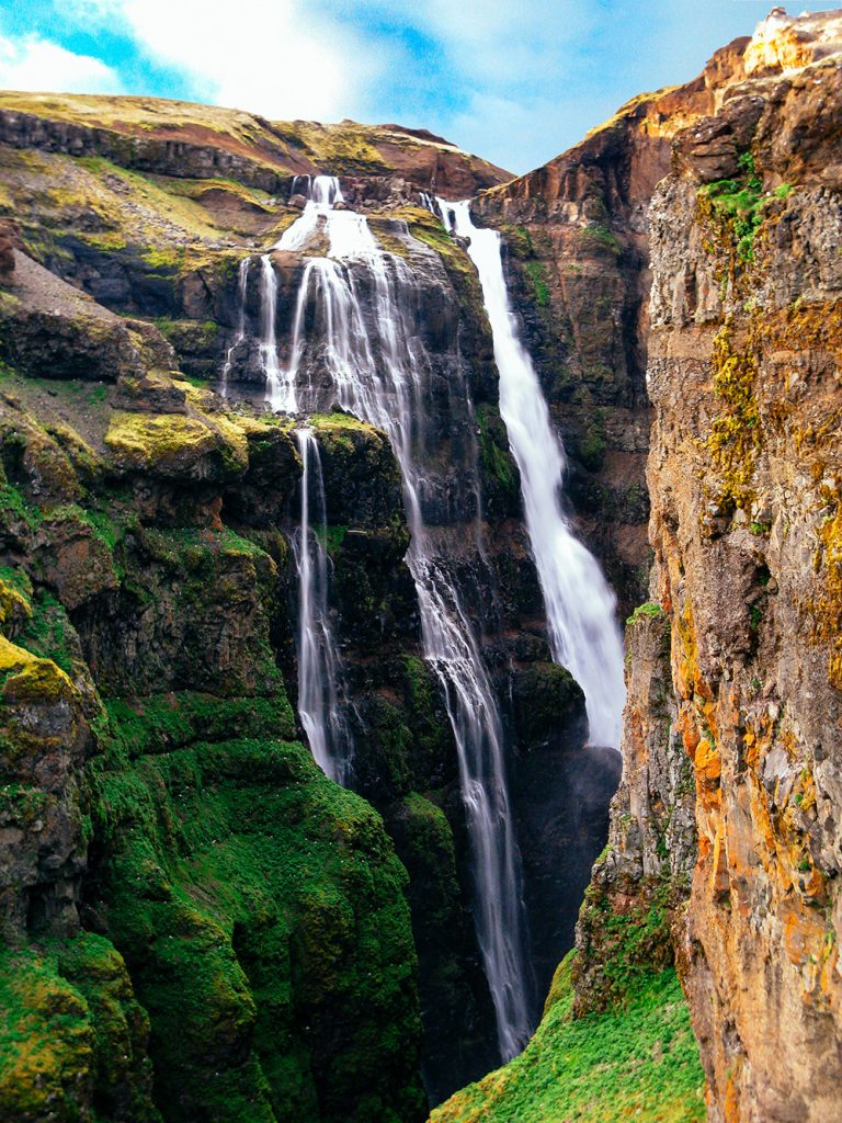 Glymur waterfall - Iceland's highest waterfall