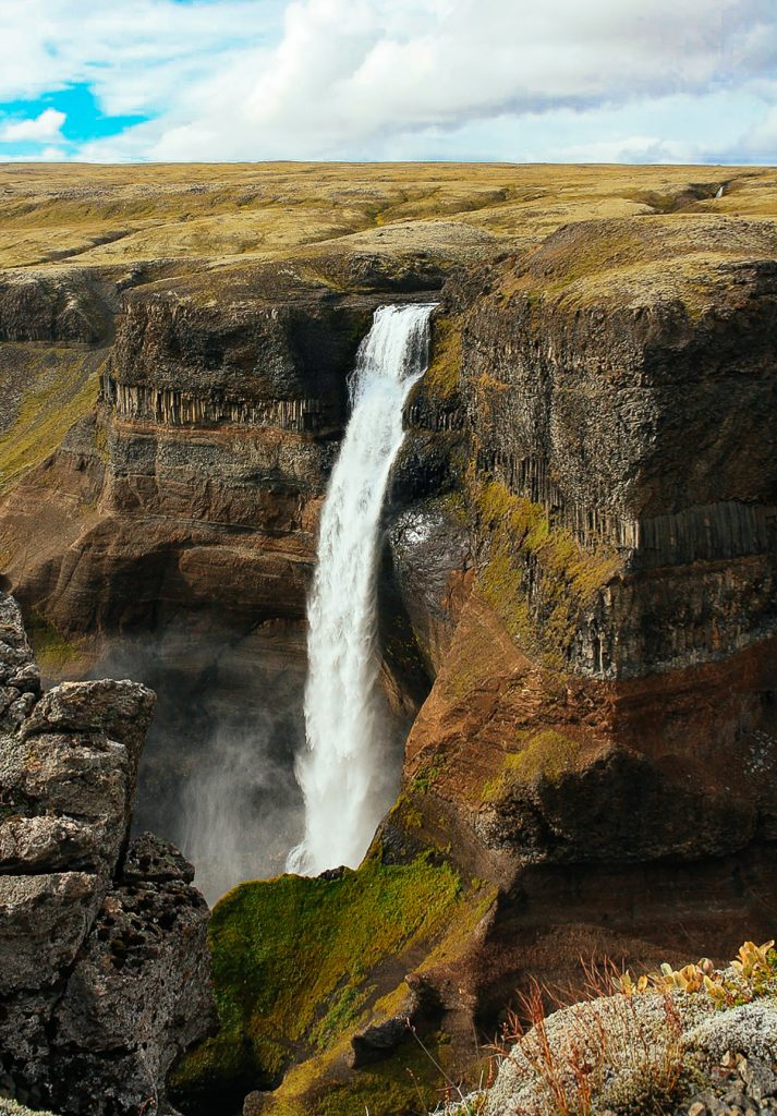 Háifoss waterfall Iceland