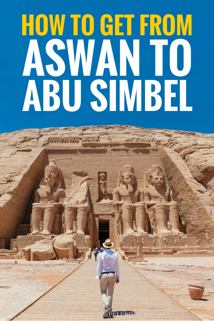 The bet way to get from Aswan to Abu Simbel, Egypt. Planning a visit to the great temple of Ramses II in Abu Simbel? Then this travel guide will help you plan your perfect Egypt itinerary. No matter if you want to visit Abu Simbel by air, by bus or by cruise, this blog will help you no matter your budget. Click for more information. #egypt #abusimbel #africa #travel #travelguide #unesco #worldheritage #landmark