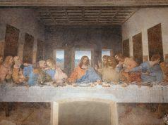 """Leonardo da Vinci's """"Last Supper"""" inside the refectory of Santa Maria della Grazie"""