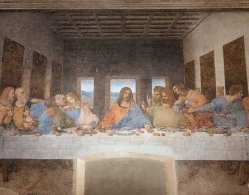 "Leonardo da Vinci's ""Last Supper"" inside the refectory of Santa Maria della Grazie"