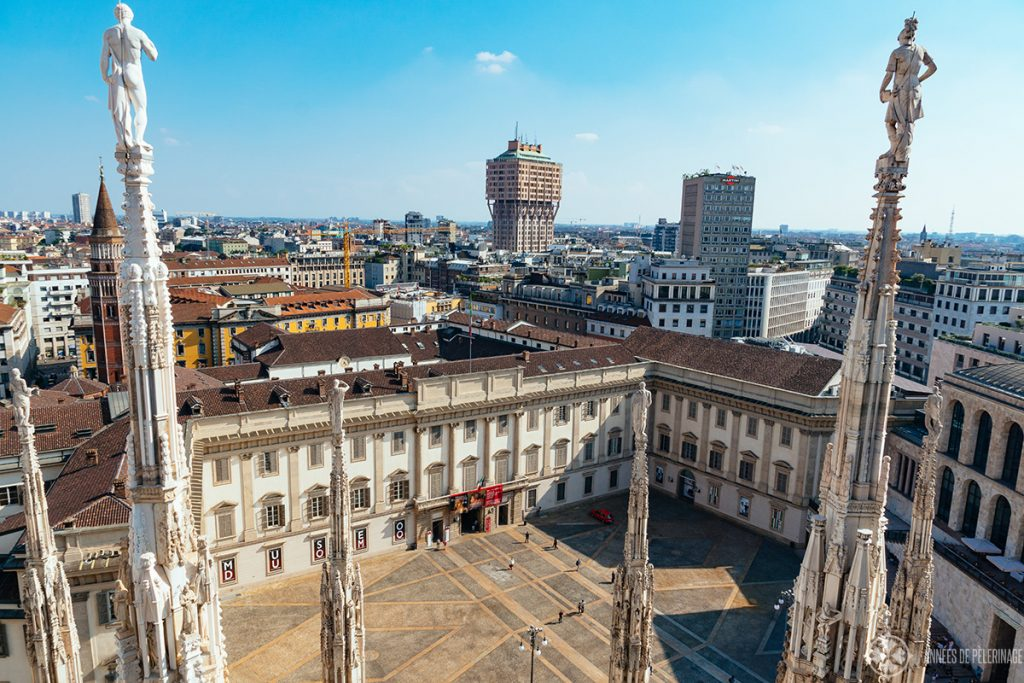 The Palazzo Reale di Milano as seen from the rooftop of the Duomo