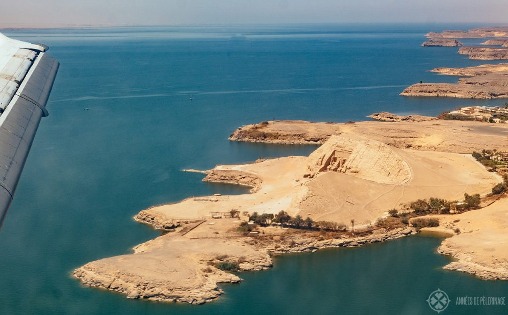 Abu Simbel temple from above, Egypt