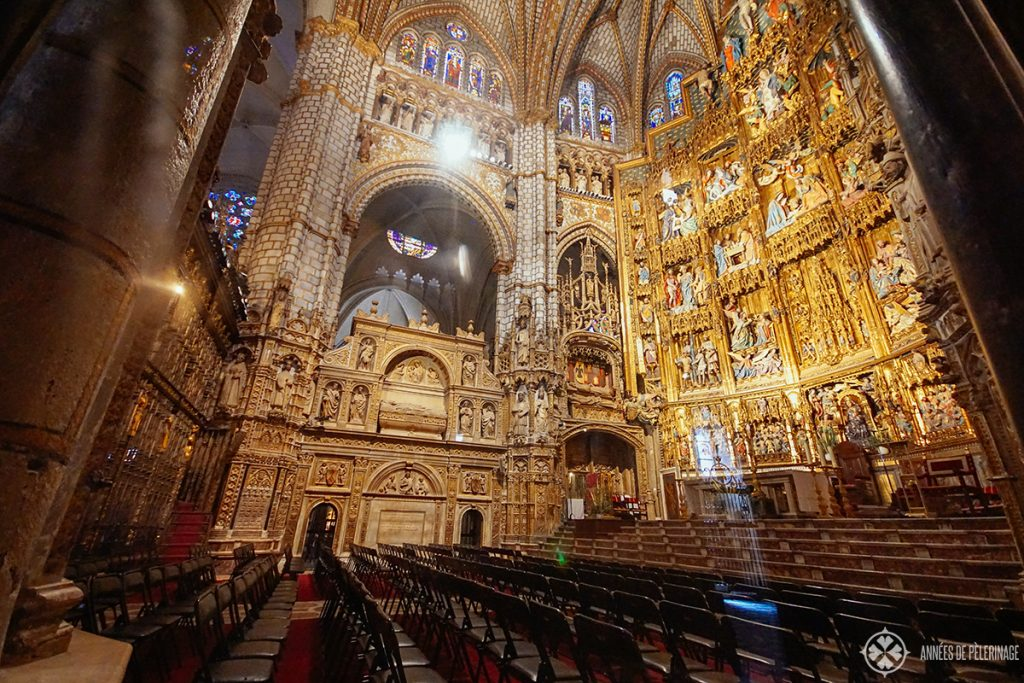 altar of cathedral toledo, spain