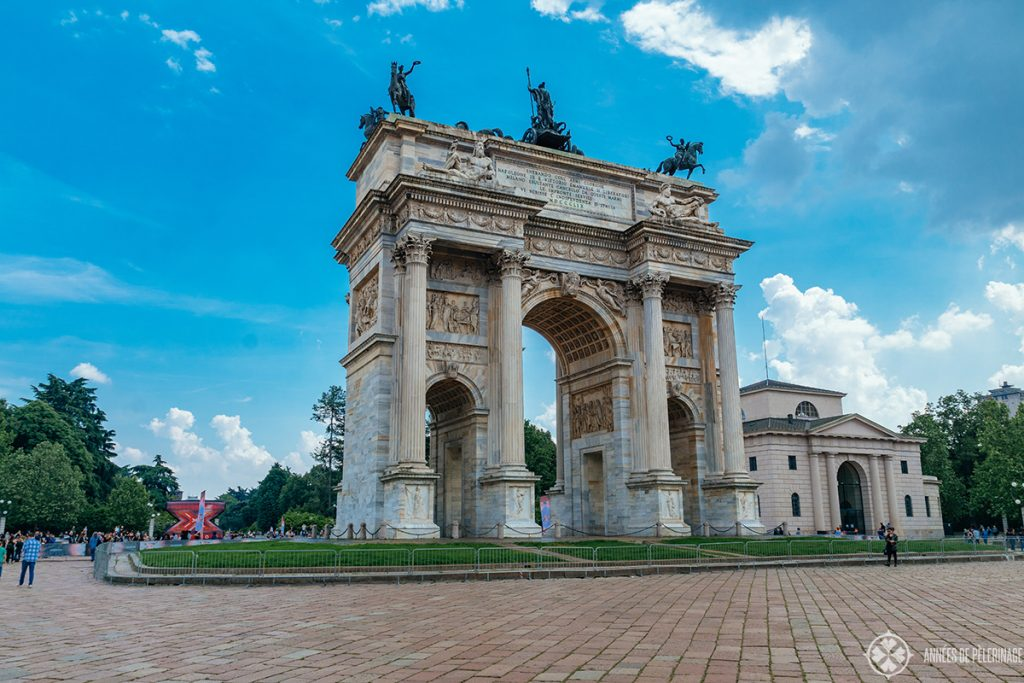 the The Arch of Peace in Milan, Italy