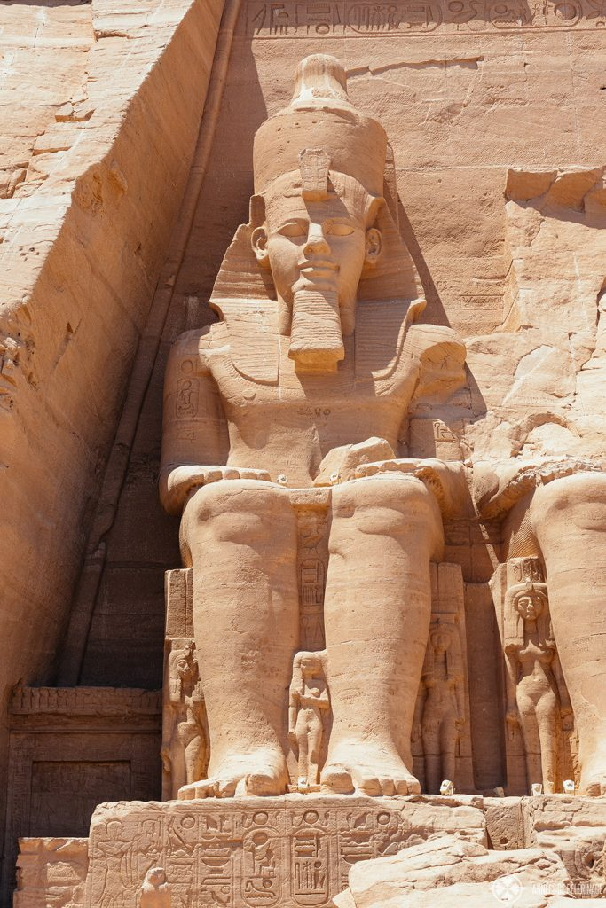 Collosal statue of Ramses II at Abu Simbel, Egypt