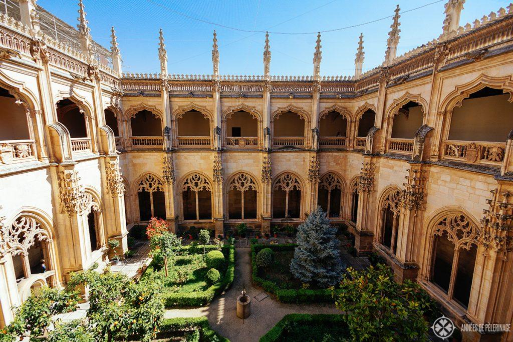 courtyard inside the Monastery of San Juan de losReyes, Toledo