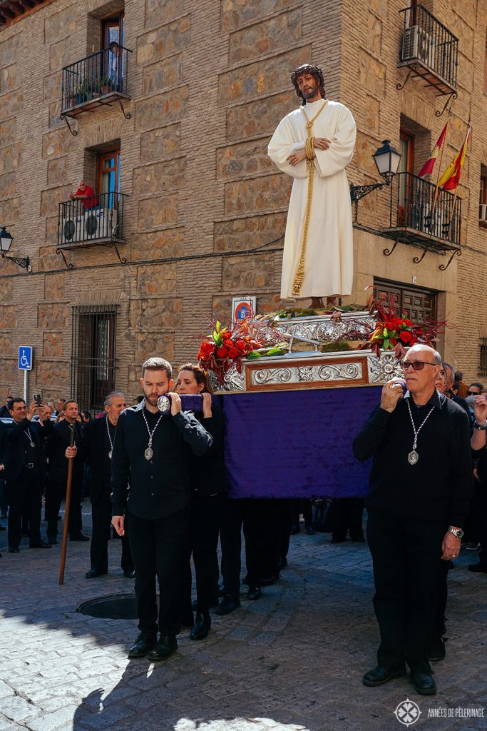 Easter Procession through the old town of Toledo, Spain