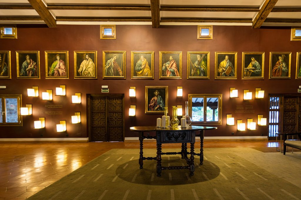 Inside the El Grecco Museum in Toledo, Spain