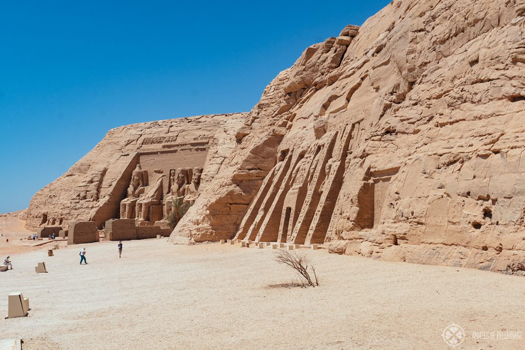 The great temple of Ramses and the small temple of Nefertari in Abu Simbel, Egypt