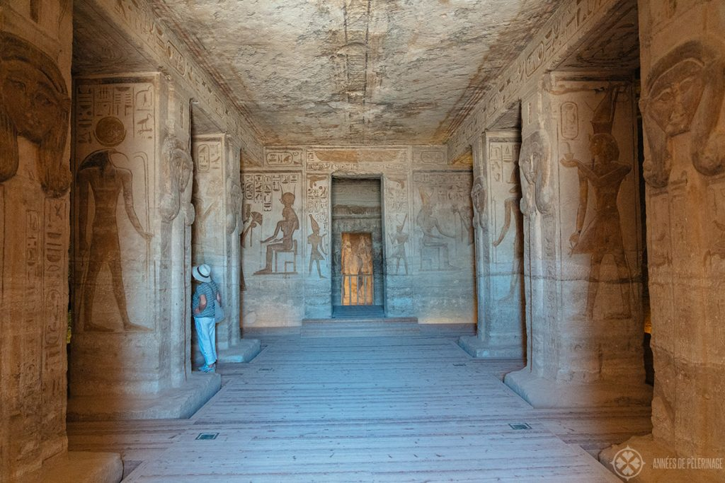 Inside the small temple of Nefertari in Abu Simbel, Egypt