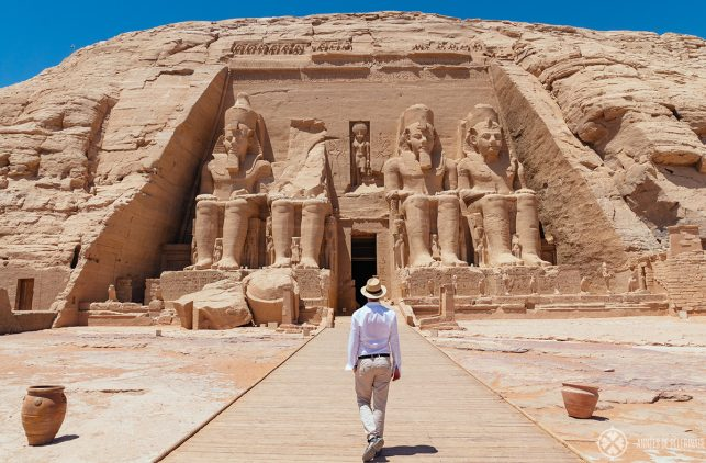 Me infront of the great temple of Ramses II in Abu Simbel, Egypt