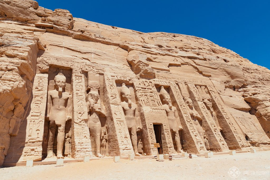The small temple of Nefertari in Abu Simbel, Egypt
