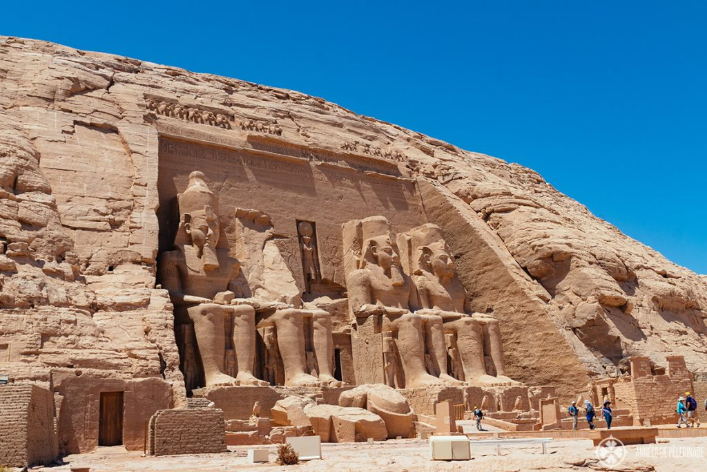 The great temple of Ramses II at Abu Simbel, Egypt - side view