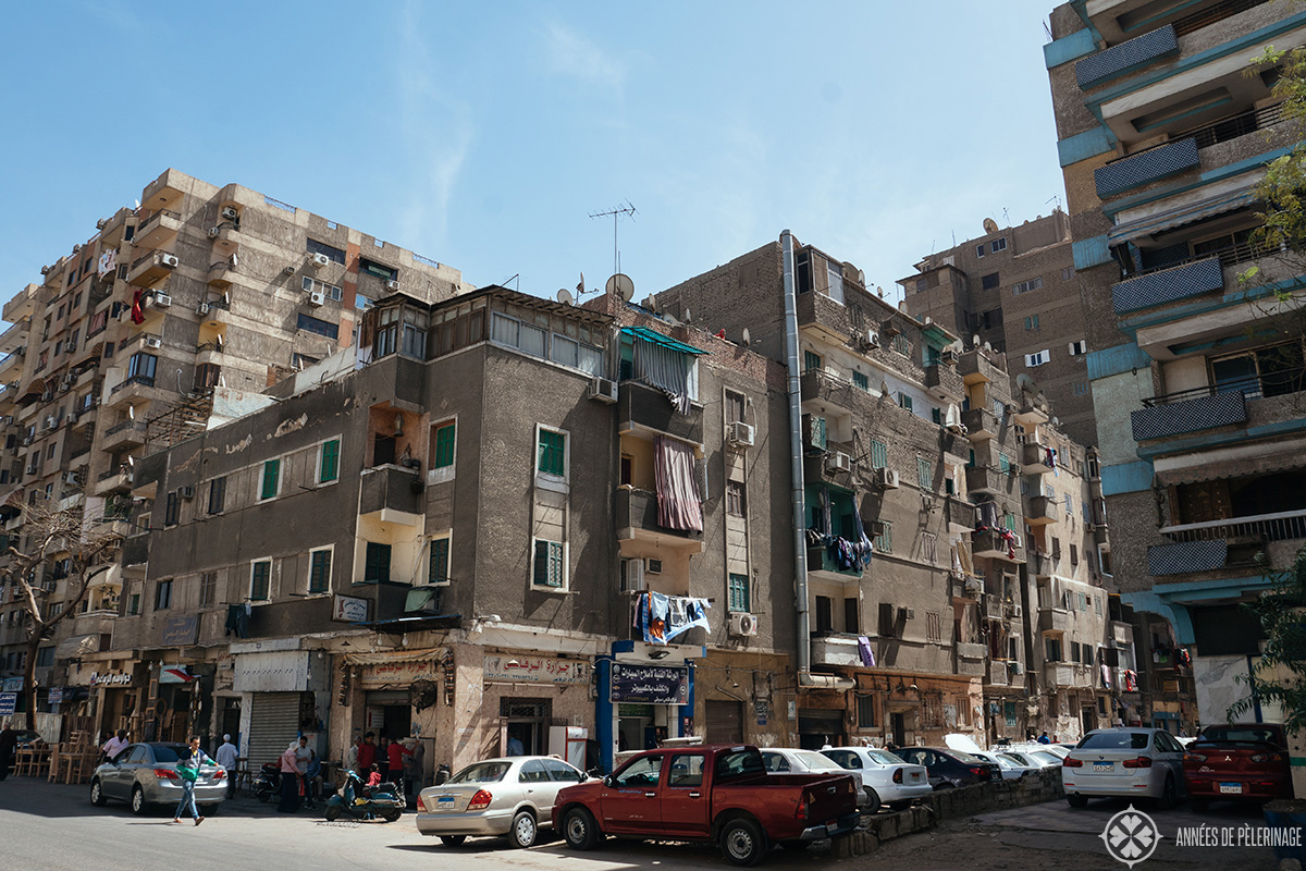 A typical neighborhood in Cairo