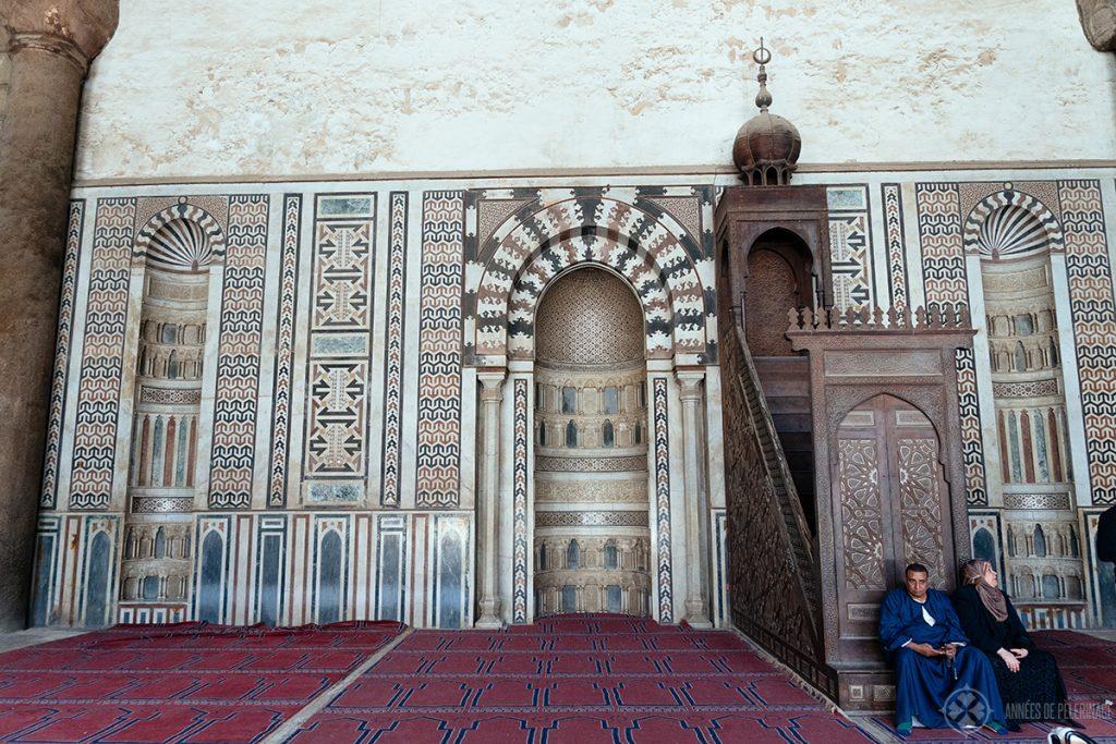 Mihrab and minbar al nasir muhammad mosque cairo citadel