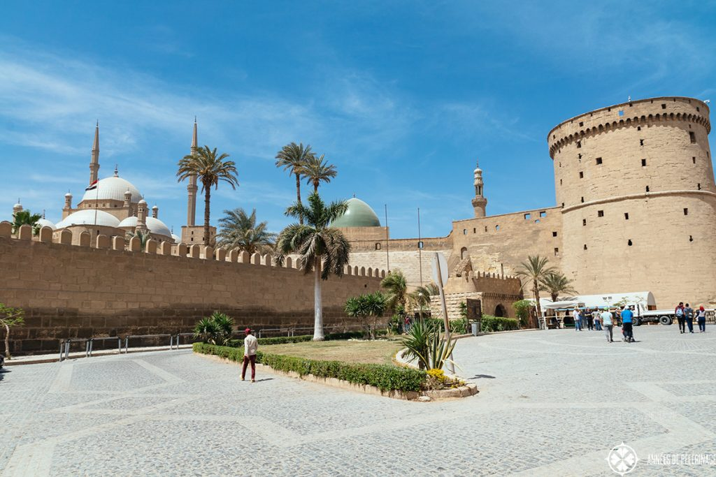 The entrance of the Entrance of the Cairo Citadel - tickets can be bought here. Cairo Citadel ticket prices are 100 LE