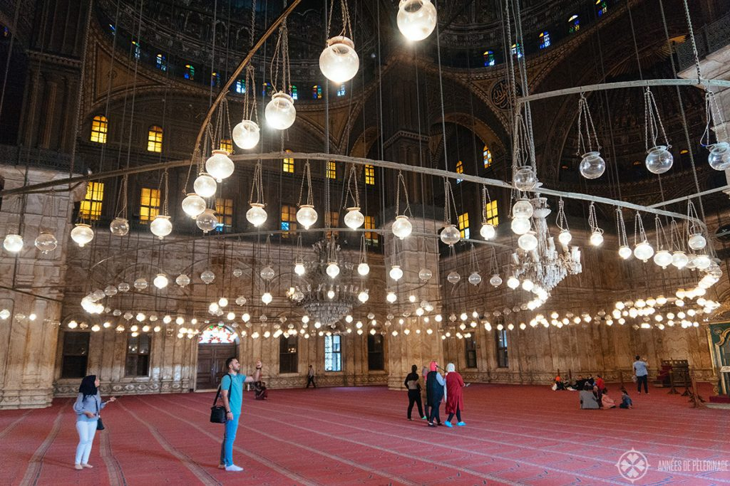Inside the Mosque of Muhammad Ali in the Cairo Citadel