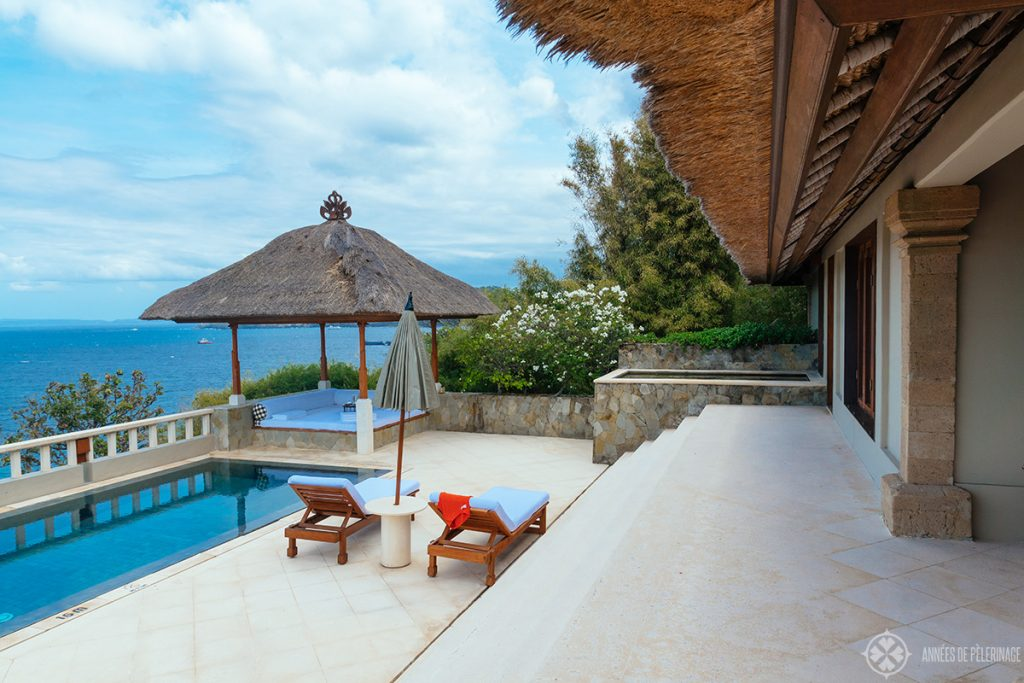 the Indrakila Suite at the amankila luxury hotel in east Bali