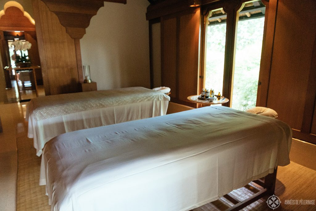 Inside the spa facilities at the amankila luxury hotel in Bali