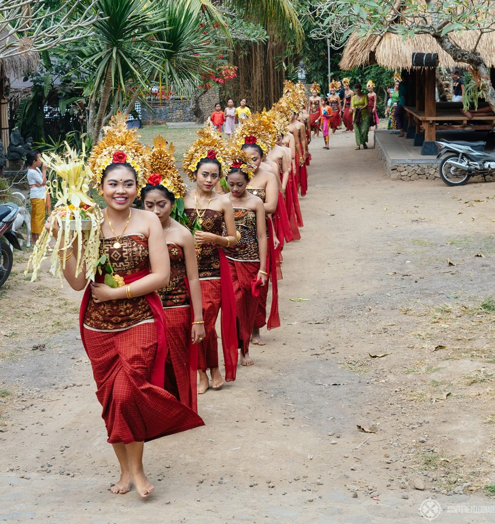 Traditional festival on an excursion to Tengana village in East Bali