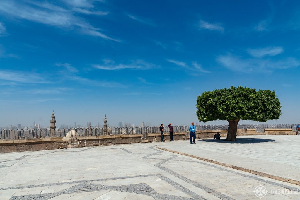 The terrace in front of the Mosque of Muhammad Ali inside the Cairo Citadel, Egypt