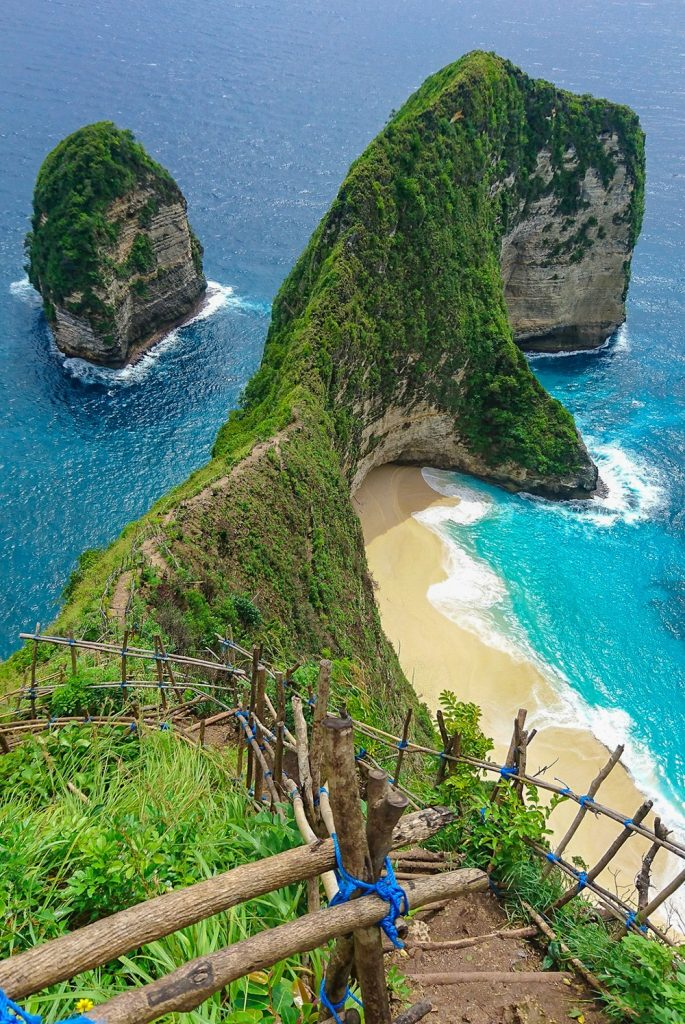 Kelingking Beach on Nusa Penida island, in Bali, Indonesia